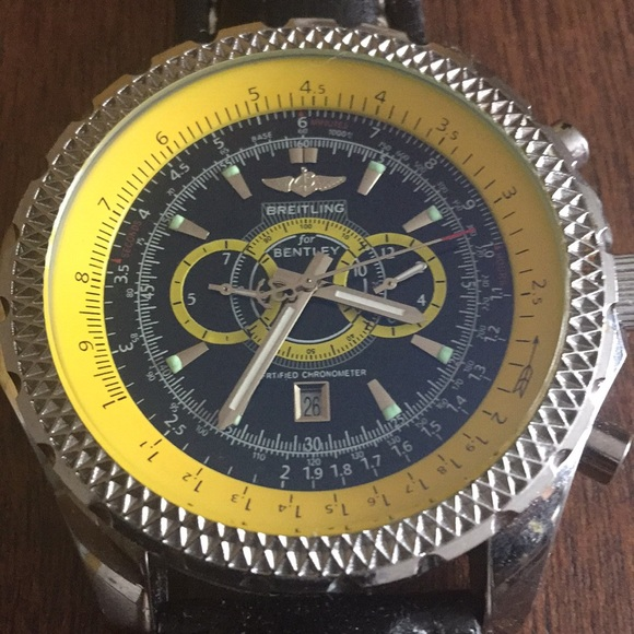 edition breitling watch special motors in for pin green chronograph gmt bentley limited